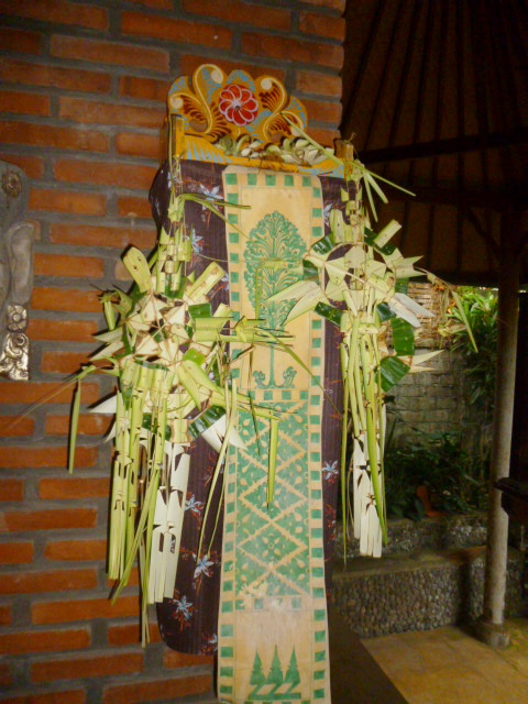 The house altar decorated for Kuningan