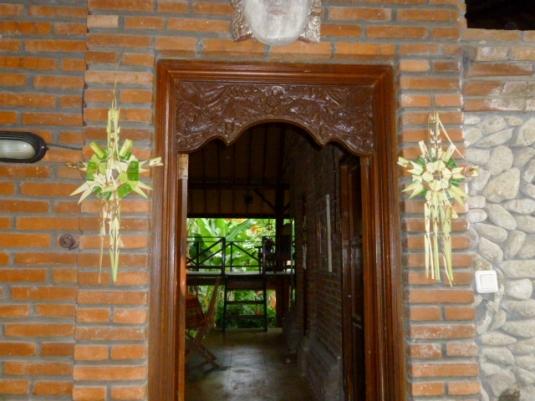 My front door decorated for Kuningan