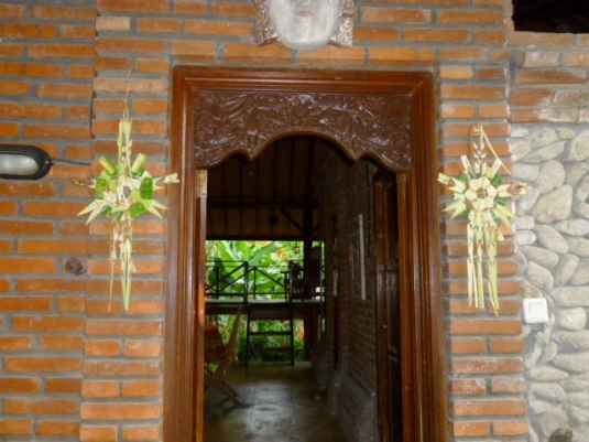 My front door decorated for Kuningan