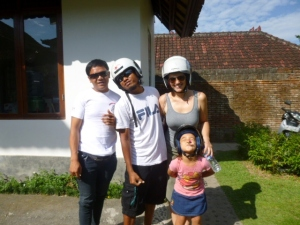 Ketut, Sudi, Nina, and Dewi