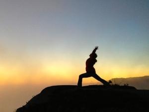 Jessa at sunset - southern coast of California