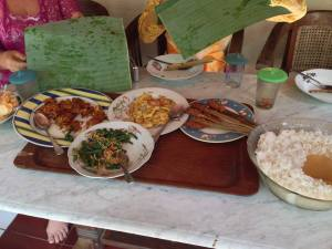 Nyoman cooked this amazing spread for us