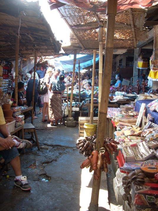 The Ubud market spills out into the street